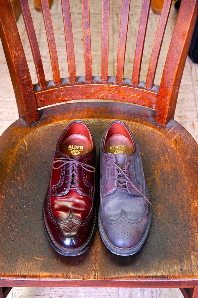 Oxblood Shoe Polish On Brown Shoes