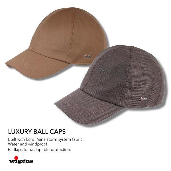 ... Wigéns baseball hat with ear flaps made with Loro Piana s storm system  wool. image 219b31c2551